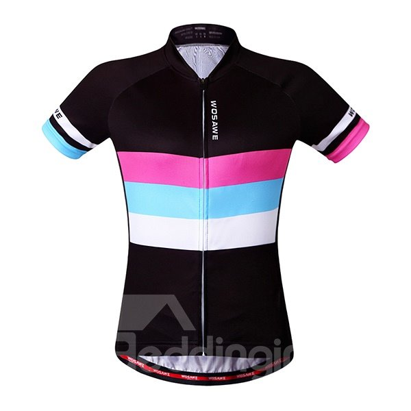 Colorful Stripes Mens Outdoor Sports Jersey 3D Padded Cycling Clothing
