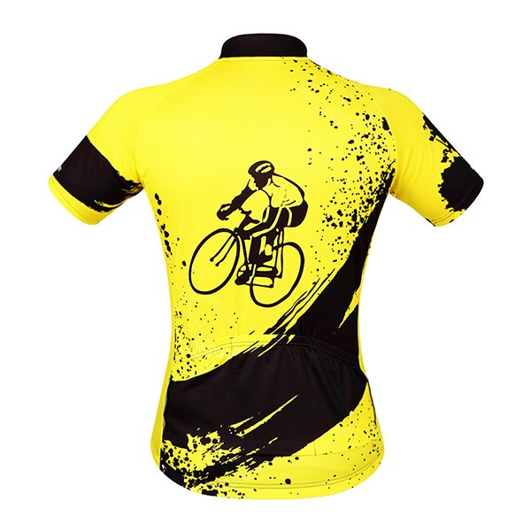 Mens Yellow 3D Padded Shorts Set Outdoor Sports Jersey Cycling Clothing