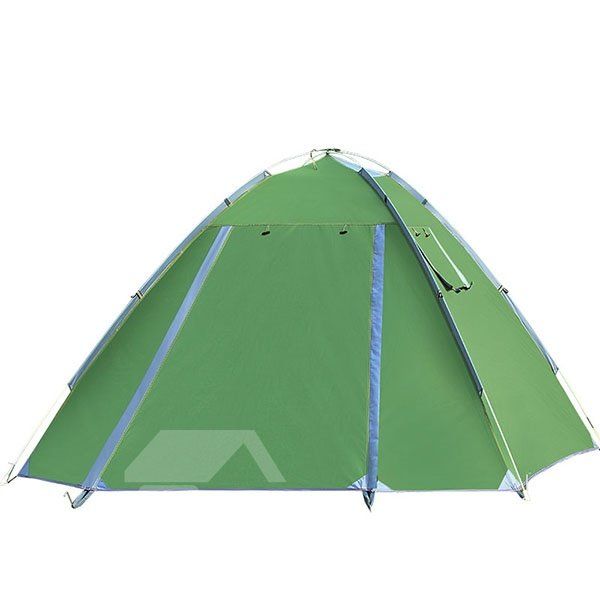 3-4 Person Outdoor Waterproof Double Layers with Fiberglass Skeleton Screened Instant Camping Tent