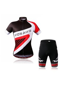 Men's Simple Style 3D Padded Shorts Set Outdoor Sports Jersey Cycling Clothing