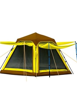 3-4 Person Automatic Double Layers Spinning Skeleton Tent