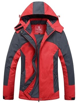 Windproof Thermal Hooded Abrasion-resistant Outdoor Women Jacket