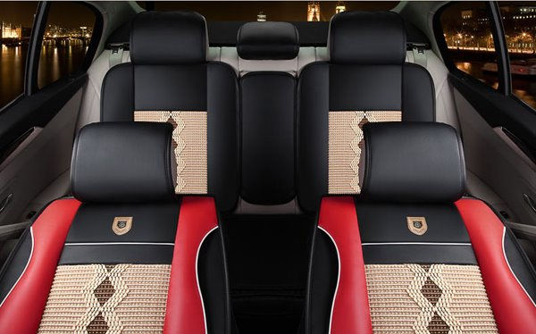 Casual Style Diamond Patterns Colorful Design Comfy Universal Car Seat Covers