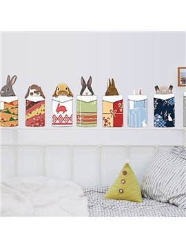 Cute Animal Head Pattern Home Decorative Wall Sticker