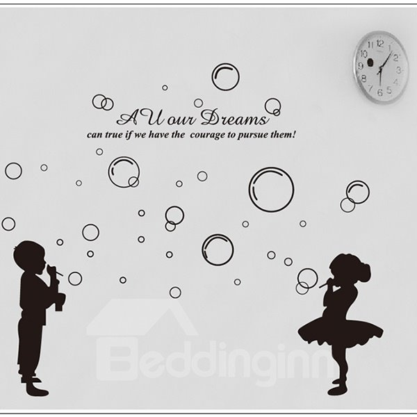 Simple Bubbles and Dream Pattern Glass and Wall Sticker