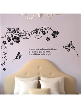 Modern Design Tree and Love Pattern Wall Sticker