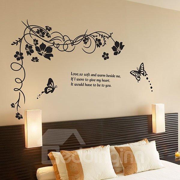 Modern Design Tree and Love Pattern Wall Sticker