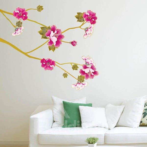 Simple Beautiful Flowers Pattern Wall Sticker