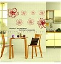 Amazing Red Flowers Pattern Decorative Wall Sticker