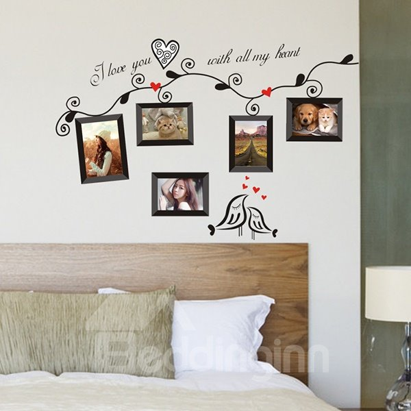 Creative Tree Pattern Photo Frame Wall Sticker