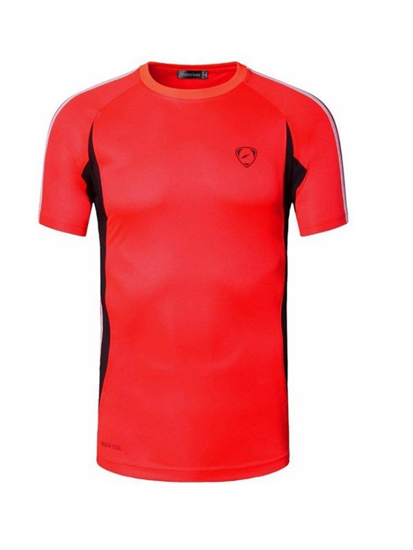 Bright Color Short Sleeve Cycling Jersey Men Quick Drying Shirt