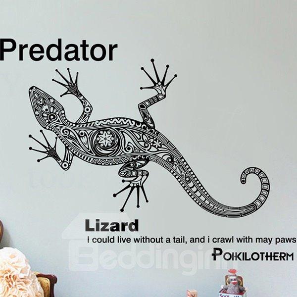Creative Predator and Letter Pattern Wall Sticker
