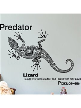 Creative Predator and Letter Pattern Wall Sticker