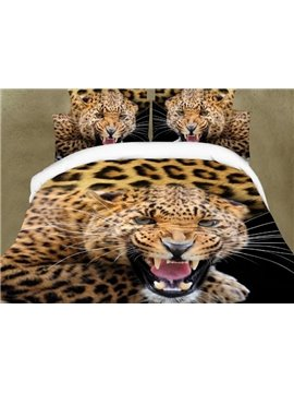 Amazing Vivid Leopard Design 4-Piece Bedding Sets