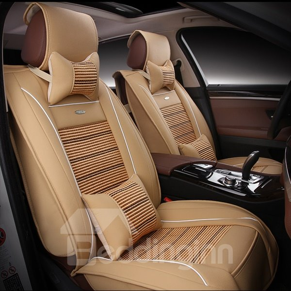 Cool Business And Ice Silk With PU Material Car Seat Cover