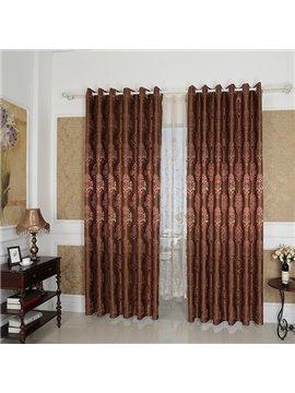 Amazing Detail High Precision Silk Jacquard Cloth Grommet Top Curtain