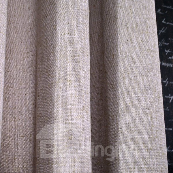 Pure Colored Super Soft Gray Custom Grommet Top Curtain