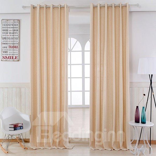 Modern Minimalist Maize-Yellow Grommet Top Curtain