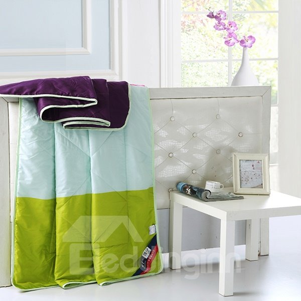 Stylish Unique Contrast Color Reactive Printing Polyester Quilt