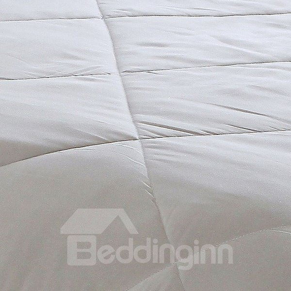 Delicate European Style Grey Polyester Summer Quilt