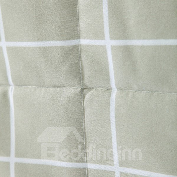 Fashion Washable Concise Plaid Print Polyester Quilt