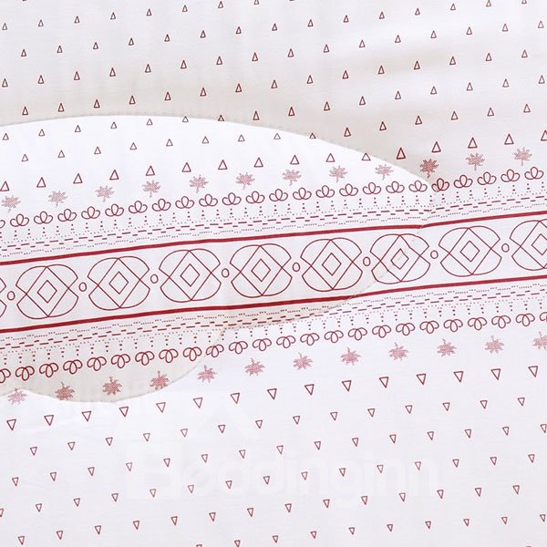 Silky Concise Triangle Reactive Printing Modal Quilt