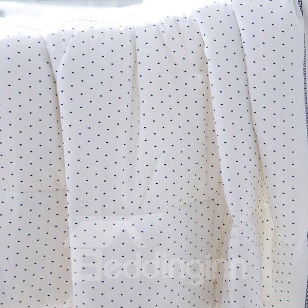 Simple Design White Washable Modal Summer Quilt