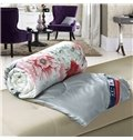 Romantic Retro Blooming Peonies Print Soft Quilt