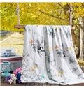 Chic Ink Painting Print Lightweight Soft Quilt