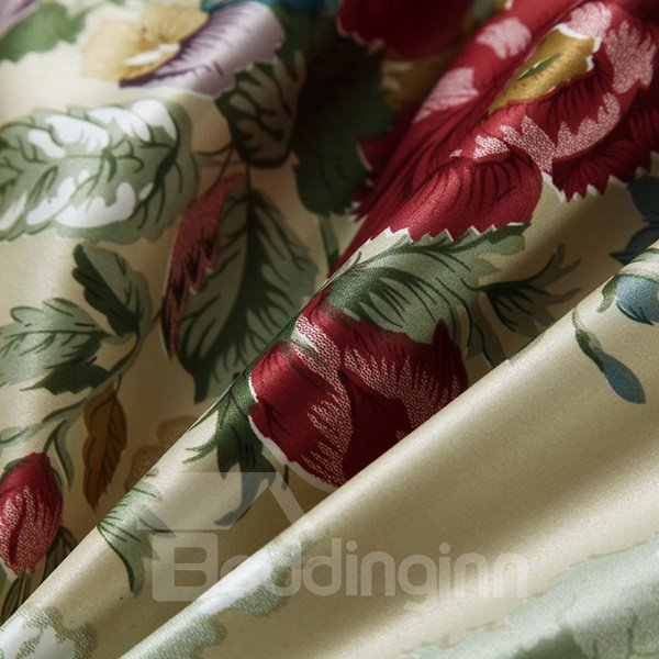 Exotic Chic Flowers Reactive Printing Super Smooth Quilt