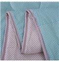 Glamorous Polka Dots Pattern Light Blue Pure Cotton Quilt