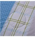 Special Design Vertical Stripe Sky Blue Quilt