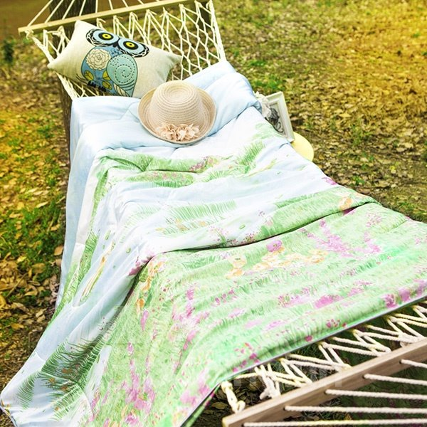 Elegant Rural Style Fresh Green Comfortable Quilt