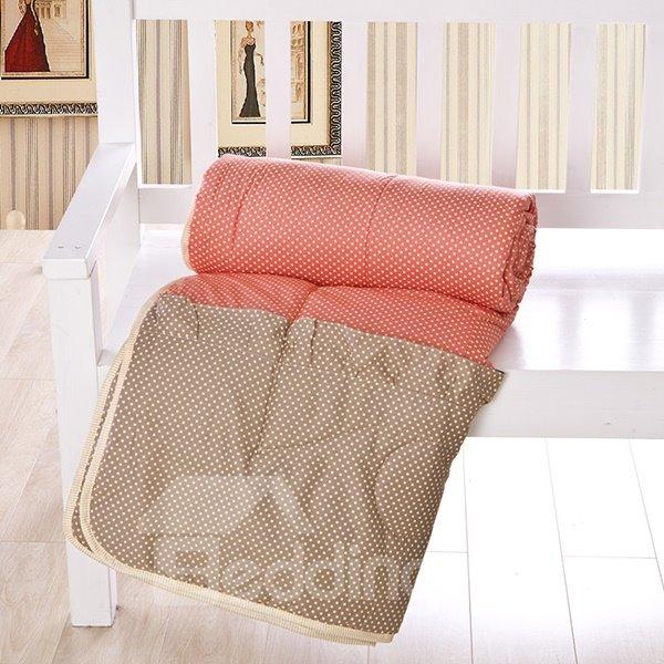 Delicate Lightweight Orange Reactive Printing Pure Cotton Quilt