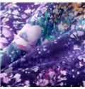Romantic Dreamy Lavender Flower Print Cotton Quilt