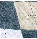 Fabulous Neutral Colorful Rhombus Reactive Printing Cotton Quilt