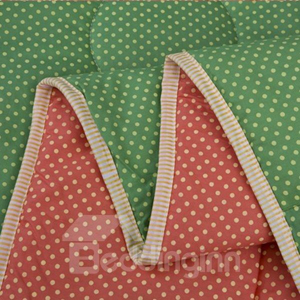 Elegant Green 100% Organic Cotton Summer Quilt