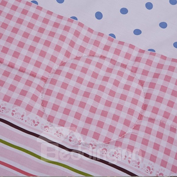 Romantic Pink Vertical Stripe Ultra Soft Cotton Quilt