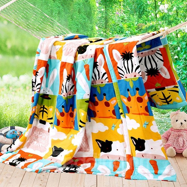 Super Soft Lovely Animal Cotton Comfortable Quilt