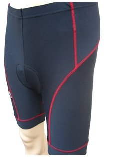 Men's Black Half Pants Cycling Padded Compression Tights