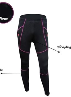 Women's Black Padded Cycling Compression Pants Outdoor Tights