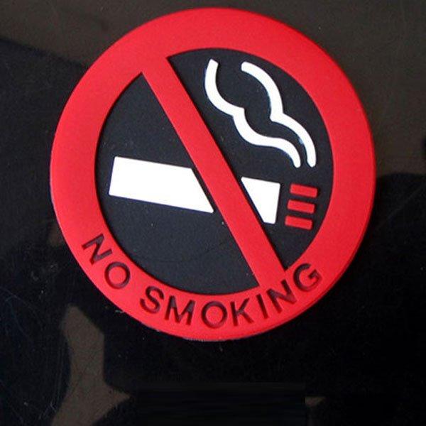 Three-Dimensional No Smoking Logo Car Interiors Car Sticker