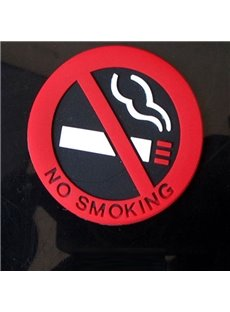 Three-Dimensional No Smoking Logo Car Interiors Car Sticker