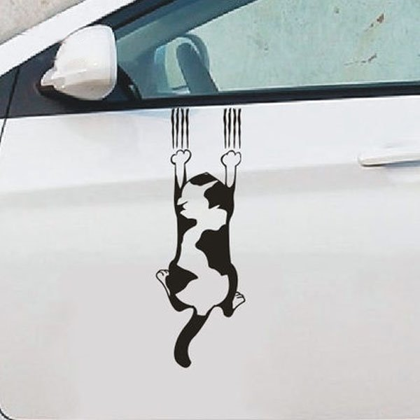 Naughty Cat Reflective Materials Creative Car Sticker