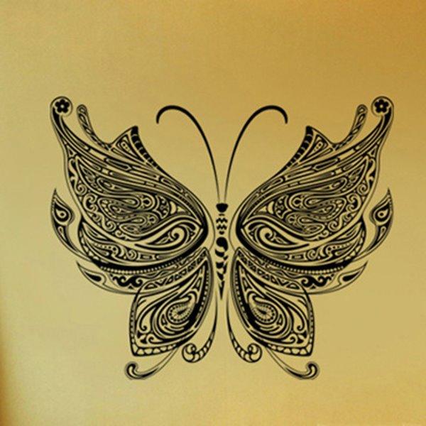 Amazing Black Butterfly Pattern Home Decorative Wall Sticker