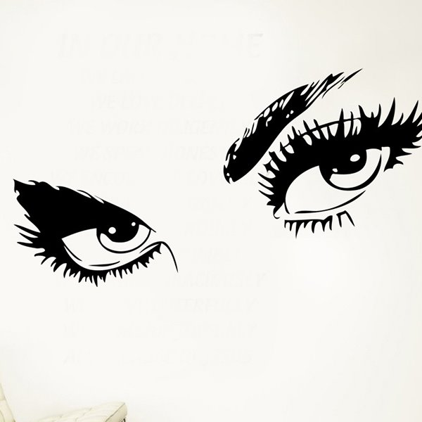 Simple Black Eyes Pattern Home Decorative Wall Sticker
