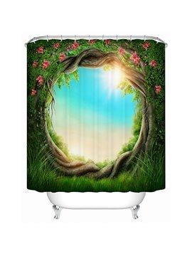 The Magic Tree Hole Print 3D Bathroom Shower Curtain