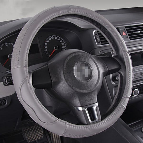 Classic Solid Leather Material And Most Popular Steering Wheel Covers