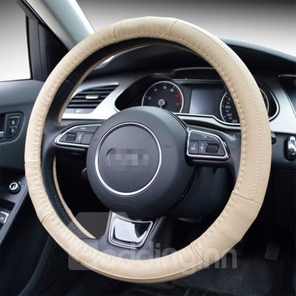 Classic Newest Popular Soild Leather Steering Wheel Cover