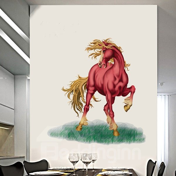 Creative Red Horse Pattern Home Decorative Wall Sticker